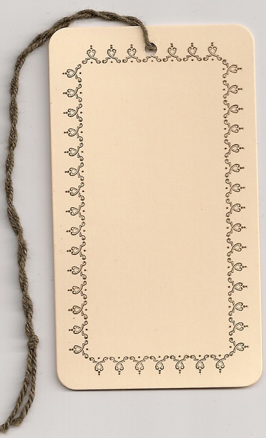 BORDER TAG W/STRING ATTACHED (2X3-1/2) MANILA ROUND CORNERS 1000s